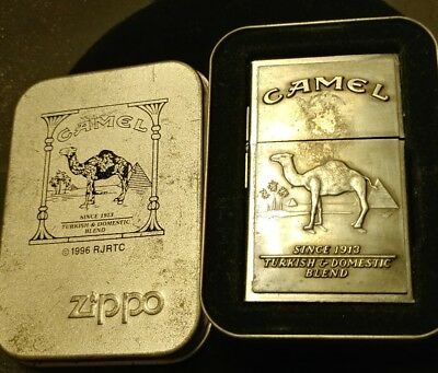 1990's  Zippo lighter Camel 32 model w outside hinge square used  2nd release