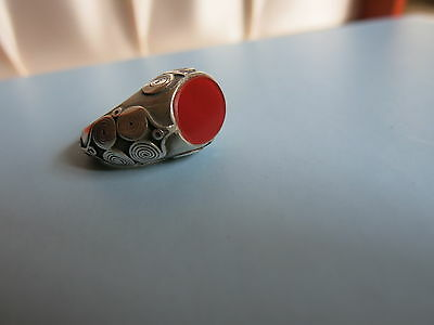 Fingerring  Silber  Turmenistan - Finger Ring  Silver  Turkmenistan : Antique