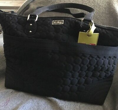 Gorgeous Quilted Circle Design Vera Bradley Black Baby Diaper Bag