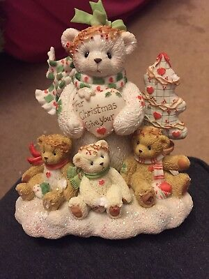 Cherished Teddies Figurine Marla For Christmas Give Your Love 2003