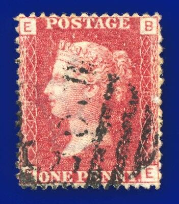 1875 SG43/44 1d Red Plate 183 BE Clear Profile excellent shade & centring aqsf