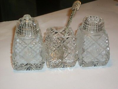 Vintage Collectable Cut Glass / Crystal Salt & Pepper Shakers