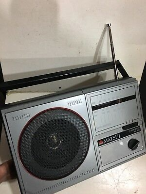 VINTAGE MATSUI MR 4150  RADIO  AM(MW)-FM-LW  3-BAND FROM THE 1960S-1980s+BOX