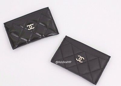 Chanel VIP Gift Card Case / Cardholder / Wallet - Faux Black Caviar Leather