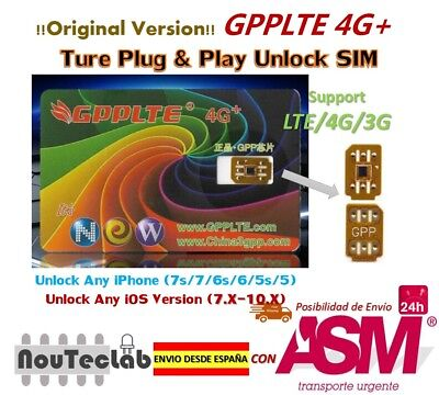 GPPLTE 4G+ GPP Unlock Card for iPhone 7P/7/6/6s/5 IOS10.x RSIM RSIM11 R-SIM11+