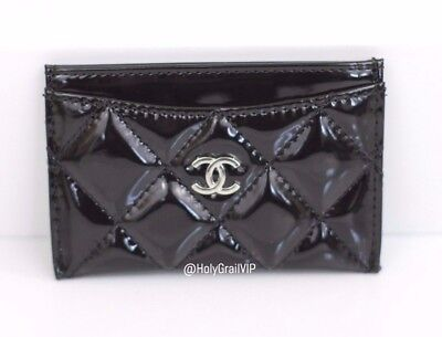 Chanel VIP Gift Card Case / Cardholder / Wallet - Faux Black Patent Leather