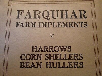 "6'"" X 9-1/4"" Early Farm Implement Catalog A B Farquhar Co York Pennsylvania"