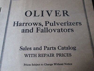 Oliver Chilled Plow Works Catalog South Bend In Harrows Pulverizers Fallovators