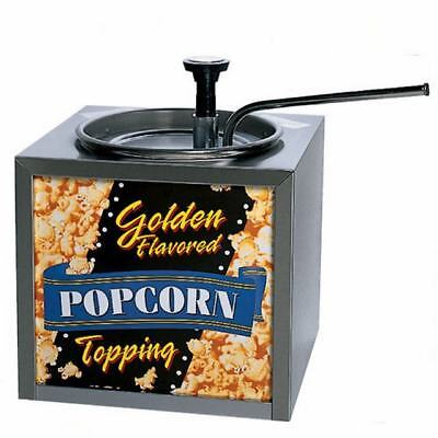 Gold Medal 2195 Buttery Topping Dispenser w/Push Top Adjustable Pump