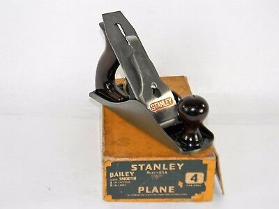 Minty Stanley # 4 Smooth Plane In Original Box Superb Rosewood  T3832