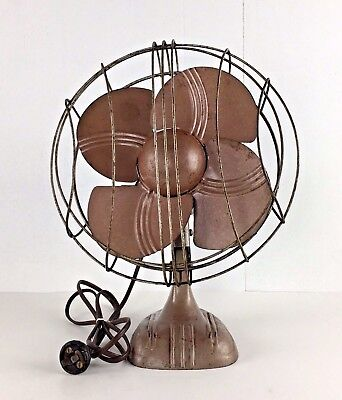 Vintage Art Deco Electric Fan One Speed Works Made-Rite Christmas Gift