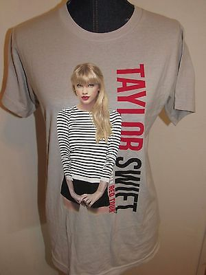 Taylor Swift The Red Tour 2013 Concert T Shirt Tan Ss Small - Euc