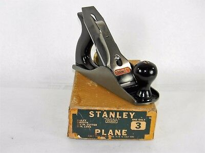 Minty New Old Stock Stanley # 3 Smooth Plane In Original Box Inv T2672