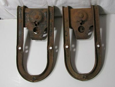 Antique Vintage Barn Door Rollers 1 Pair Old Farm Country Old Home Loft Decor