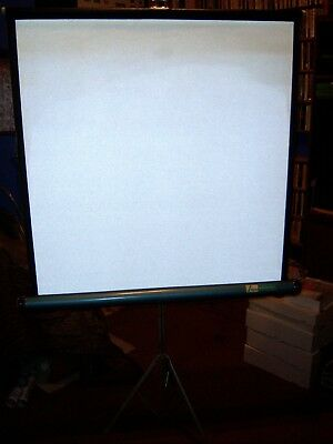 Projector Movie Slide Film Projection Screen Home Vintage Adams 38 x 40