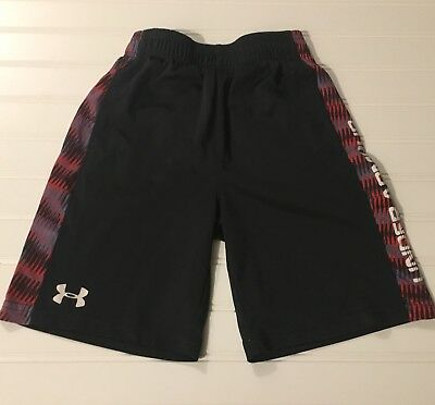 UNDER ARMOUR Boys Athletic SHORTS SIZE 7 Black