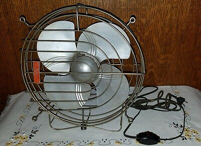 RARE VTG ART DECO ALUMINUM BLADE DOMINION ELECTRIC FAN BULLET FLOOR Model 2019