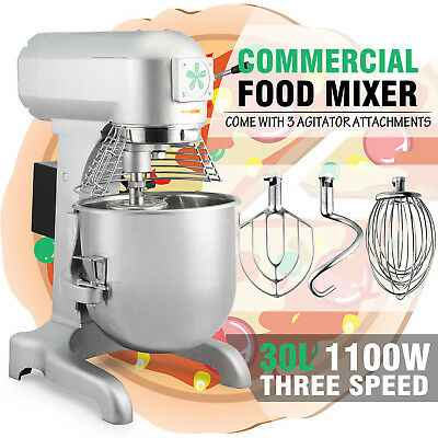 30 Quart Dough Food Stand Mixer Heavy Duty Restaurants Commercial 3 Speed