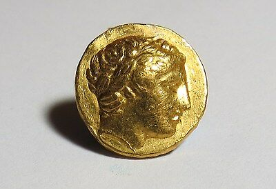 Ancient Greek Authentic King Macedon Philip Ii Gold Stater Coin Pella God Apollo