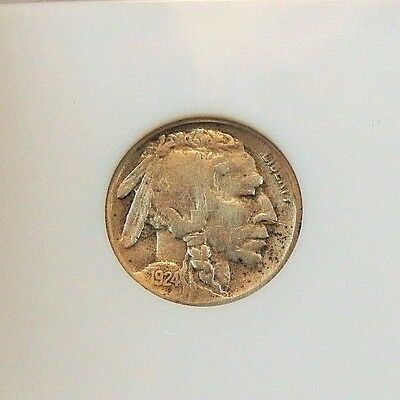 "1924-S BUFFALO NICKEL  ""KEY DATE"" 5 Cent VF COIN. Free Shipping!"