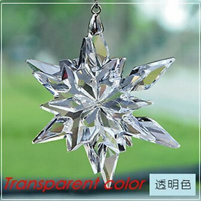 2017 Annual Edition Large Christmas Ornament New snowflake Crystal US