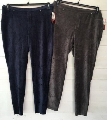 2x Plus Size Grey Blue Corduroy Lot Of 2 Jegging Leggings NWT Style Co
