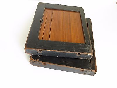 2 Vintage Photograph Printing Contact Frames Roll Front Antique Film Holders