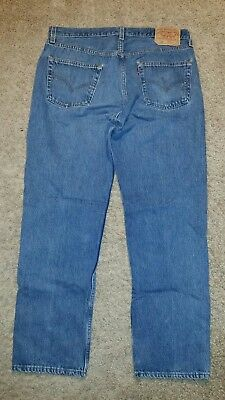 Vintage Mens Levis 501 Button Fly Blue Jeans 36 x 30 Medium Wash Made in USA