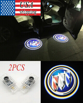 2x Car Door LED Logo Laser Projector Welcome Light For Buick LaCrosse ENVISION