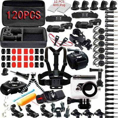 120in1 Head Chest Mount Monopod Accessories Kit For Gopro Hero 6 5 4 3 2 Camera