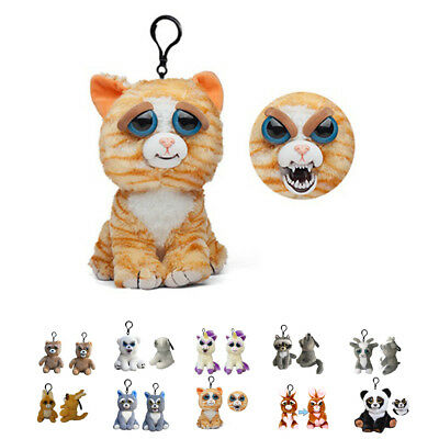 Feisty Pets Change Face Plush Toys With Funny Expression Stuffed Animal Doll