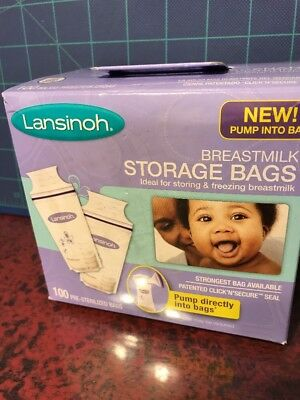 1 Lansinoh Breastmilk Storage Bags 100 Count BPA Free and BPS Free