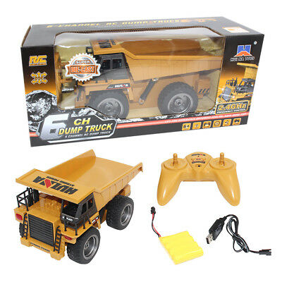 1:18 2.4G 6 CH Functional Dump Truck toy Car Vehicle Electric RC Remote Control