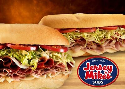 Jersey Mike's Subs Gift Card Certificate $50 Value – Same Day Delivery