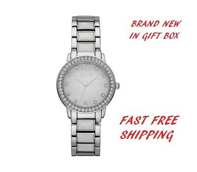 Genuine Relic By Fossil Woman's Analog Mop Dial Mia 32Mm Crystal Accent Watch