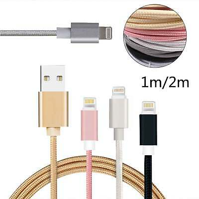 3Pcs 1M 2M USB Data Sync Cable for Apple iPhone 7 6 5 Plus Charger Charging Cord