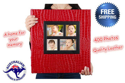 Photo Album 400 Photo Storage Case Family Wedding Baby Memory Film Book