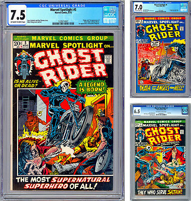 Marvel Spotlight #5-6 Cgc 7.5-7.0 Ghost Rider 1St & 2Nd Apps Mike Ploog Art 1972