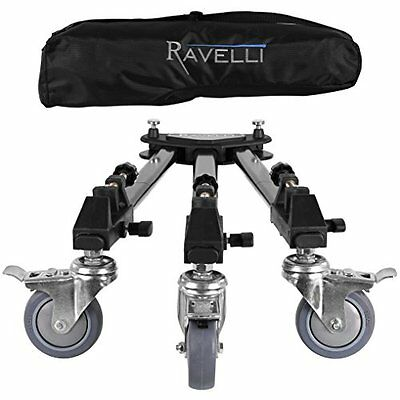 Tripod Dolly Wheels Stand Folding Professional Camera Video Photographer Travel