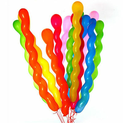 50pcs 40 Inches Assorted Color Long Latex Twisted Spiral Balloons Party Decor