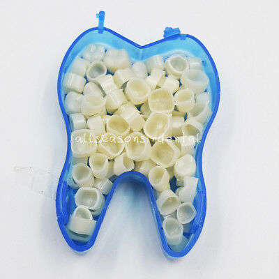 50Pcs Dental Temporary Crowns Posteriors Molar Resin Teeth Polycarbonate Caps