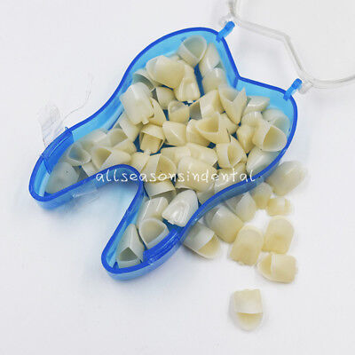 50x Dental Temporary Crowns Anteriors Front Resin Teeth Tooth Polycarbonate Caps