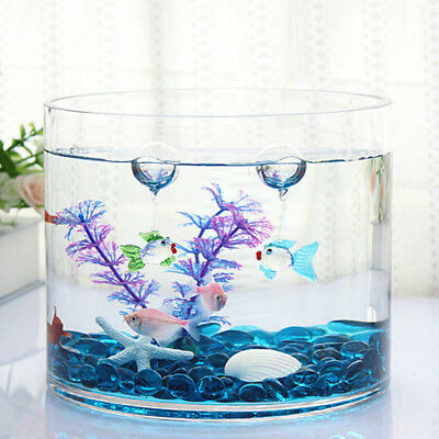 Aquarium Floating Blown Glass Bubble Micro Fish Tank Landscape Ornament Decor