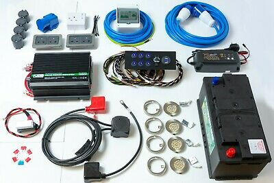 Complete Camper Van Electrical 12V & 240V Wiring Conversion Kit + 1000W Inverter