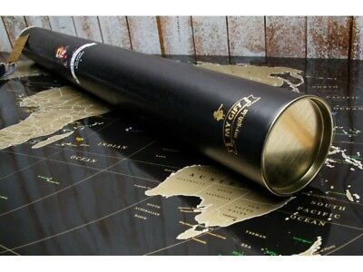 Deluxe Black Scratchable Foil Map - Best gift,large map,Personal Poster, Scratch