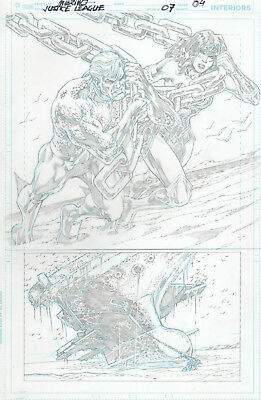 JUSTICE LEAGUE 7 pg 4 original art by Jesús MERINO - FLASH Wonder Woman