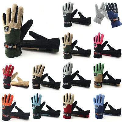 New Winter Fleece Thermal Motorcycle Ski Snow Snowboard Gloves Windproof Gifts