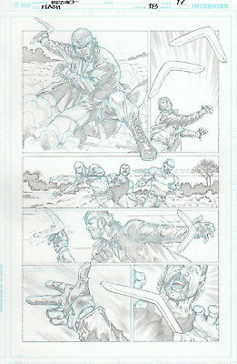 FLASH 18 pg 17 original art by Jesús MERINO - JUSTICE LEAGUE