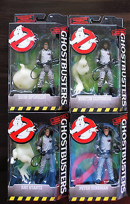 GHOSTBUSTERS Classic COMPLETE Set of 4 Figures WINSTON EGON RAY PETER Mattel