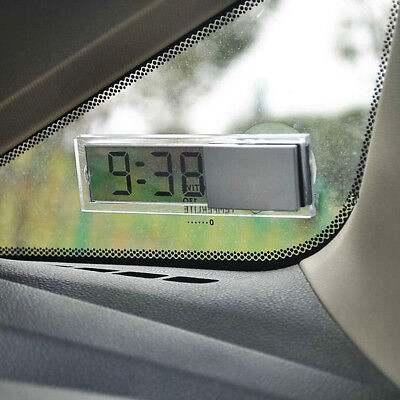 Digital LCD Display Mini Dashboard Suction Cup Windshield Car Auto Clock Cheap